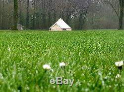Tente De Bell De Toile De 360 gsm 5m Avec Zippée Dans De Grandes Tentes De Famille De Tapis De Sol