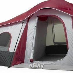 Tente De Cabine 3 Pièces Ozark Trail Pour 3 Personnes, Grande Chambre Facile À Installer, Extérieur