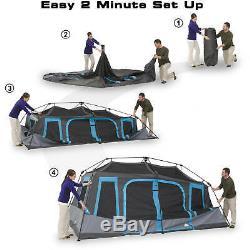 Tente De Cabine Instantanée Dark Rest Pour 10 Personnes, Grande Tente De Camping En Plein Air Pour La Randonnée