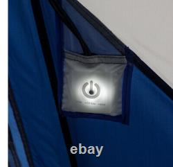 Tente De Cabine Instantanée Ozark Trail 10 Personnes Avec Des Poteaux Éclairés À Led Bleu