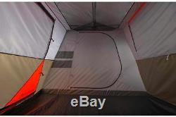 Tente De Camping 12 Personnes Brun Rouge 3 Chambres 16'x16 'grande Cabine Familiale Instantanée