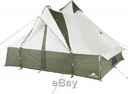 Tente De Camping En Plein Air De Style Tipi 11 X 11, Grande Pièce Pour Écran De 8 Personnes