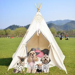 Tente De Camping En Plein Air Intérieur Pour Enfants Wigwam, Grand Tipi En Coton