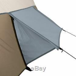Tente De Camping En Plein Air Pour Tente Wenzel Klondike 16 X 11, Grande Pièce Pour Écran 8 Personnes, Brun