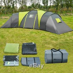 Tente De Camping Extérieure De Grande Capacité Premium Pour 9 Personnes, Avec 3 Et 1 Chambres, Famille