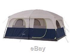 Tente De Camping Familiale À Deux 2 Pièces 10 Pour 10 Personnes, Grand Dôme Étanche Pour Usage Intensif