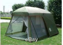 Tente De Camping Grand Grand Salon 5 8 Personnes Maison Familiale Survie Supplémentaire Au Soleil 4x4