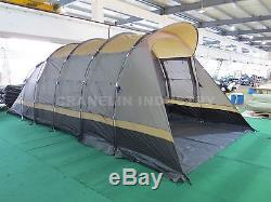 Tente De Camping Grande Famille Imperméable De 8-10 Personnes Faisant De La Randonnée En Plein Air