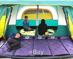 Tente De Camping Imperméable Camel Ultra-grande Double Couche Pour 8 À 12 Personnes