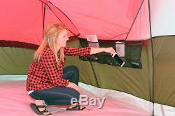 Tente De Camping Pour 10 Personnes Grand Toit Grillagé Avec Moustiquaire 3 Pièces