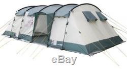 Tente De Camping Sous Tunnel Skandika Hurricane Large Family Avec 2 À 4 Cabines De Couchage, 8