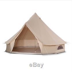 Tente De Luxe 4 Mètres Bell Tente Extérieure Eco Glamping Camping Tipi Renaissance