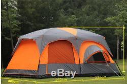 Tente De Luxe Ultra-grande Tente De Camping Extérieure Imperméable 1 Chambre 2 Chambres