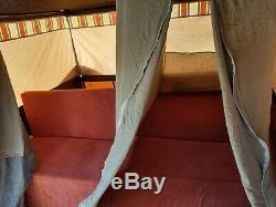 Tente De Remorque Combi Camper, Design Danois. Grand Auvent. Marron, T / Cotta Et Beige