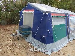 Tente De Remorque Tente De Remorque Raclet Acropolis Plus Grand Auvent, Vert / Gris
