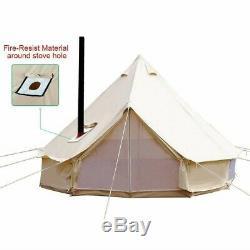 Tente De Toile De Coton Imperméable 4 Saisons Grande Tente De Camp De Famille Chasse Yourtes Yourte