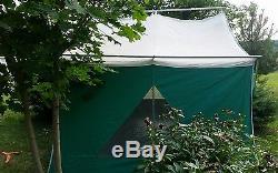 Tente De Toile Vintage Coleman American Heritage Camping 11 X 8 Années 1970