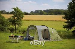 Tente De Tunnel Coleman Da Gama 5 Homme Personne Camping Familial Grand 2 Chambres À Coucher