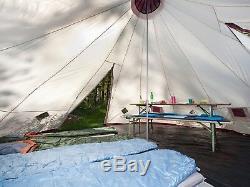 Tente De Tunnel Familiale Auvent Camping Grande Tente Extérieure Pour 12 Personnes