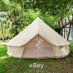 Tente Extérieure De Glamping De Camp De Tente De Bell De Toile De Large6m Imperméable Avec La Prise De Fourneau