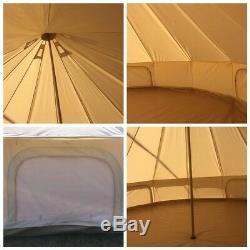 Tente Extérieure De Glamping De Tente De Bell De Toile De Large6m Imperméable Avec La Prise De Fourneau