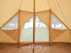 Tente Extérieure Large Glamping Safari Bell De 5x4m Toureg Tente Avec Double Porte