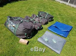 Tente Extra-large Corado 8 Pour Hommes Hi-gear 4 X Chambres Doubles, Couloir, Auvent