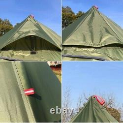 Tente Glamming Glamour Luxe Luxe Grand Camping Extérieur Avec Cheminée Trou