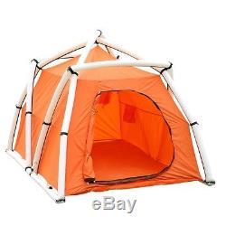 Tente Gonflable 5 Personnes Grand Espace 4 Saisons En Camping Évasion Urbaine En Famille