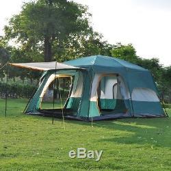 Tente Imperméable D'auvent De Dôme De Carlingue Extérieure De Famille De Grande Tente De Camping 8-10 Personnes