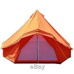 Tente Imperméable De Fenêtre De Grande Fenêtre Orange 5m Tente De Camping Glamping De Plage
