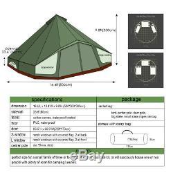 Tente Imperméable De Grande Fenêtre De Fenêtre De Vert 5m Tente De Camping Glamping De Plage