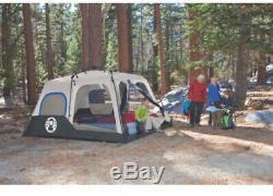 Tente Instantanée 8 Personnes Grand Camping De Plein Air Coleman Randonnée Sportive Sommeil Bleu Nouveau
