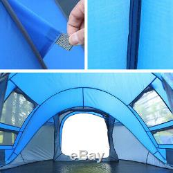 Tente Instantanée Pop-up 3-4 Personne Tente Familiale Portable Tente Résistant Camping Eau