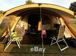 Tente Kampa Studland 8 Pro Classic Polycotton Large Air 2017 2017 Avec Zip Sur La Canopée