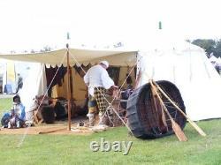 Tente Médiévale Burgundian Larp Grande Toile De Coton Lourde 22ft X 12ft X 9ft