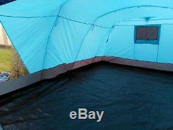 Tente Peak Man 6, Grande Tente, Entièrement Cousue En Tapis De Sol, Véranda Et 3 Chambres À Coucher