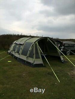 Tente Polycoton Outwell Wolf Lake 5 Avec Empreinte Et Tapis Grande Tente Familiale