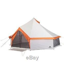 Tente Yourte 8 Personne Grand Abri Famille Backpacking Extérieur Tipi Tentes
