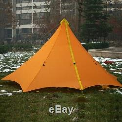 Tentes De Randonnée Imperméables De Grande Pyramide Enduite De Silicium De Camping En Plein Air De Tipi