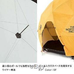 The North Face Geodome 4 Tente Avec Empreinte Nv21800 Jaune Safran Ems