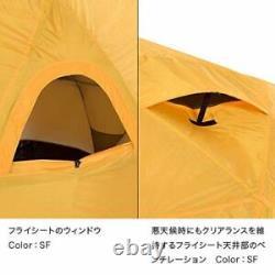 The North Face Geodome 4 Tente Avec Empreinte Nv21800 Safran Nouveau Jaune