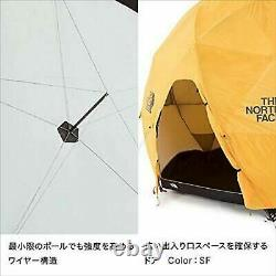 The North Face Nv21800 Geodome 4 Tente Rare Article Mint De Marque Jaune Safran