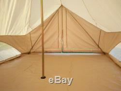 Toile De Coton Imperméable Safari De Bell Tente Pour La Famille Camping Avec Deux Portes Mesh