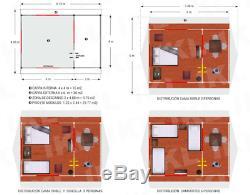 Toile Famille Tente New 19.7x13 Étanche Ft / 6x4 Mt Toute Couleur