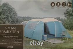 Toute Nouvelle Tente 6 Man Family Blue Tesco