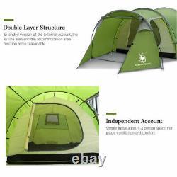 Tunnel Extérieur Imperméable À L'eau De Camping Grande Tente 3 Tentes Familiales D'homme De 4 Personnes
