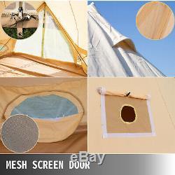 Uk Expédié Grand Espace 6m Toile De Bell Yourte Tente Glamping Tente Avec Prise Poêle