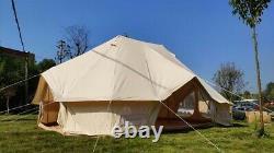 Uk Expédié Grande Toile De Coton Imperméable Twin Emperor Tente Bell Glamping Tente