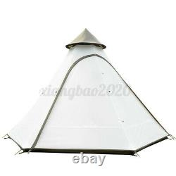 Uk Imperméable Léger Double-layer Family Indian Style Teepee Camping Tent